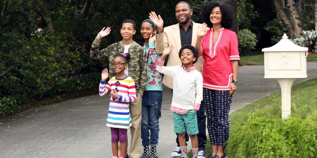 "BLACK-ISH - ABC's new family comedy, ""black-ish,"" takes a fun yet bold look at one man's determination to establish a sense of cultural identity for his family. The series stars Anthony Anderson, Tracee Ellis Ross and special guest star Laurence Fishburne. (ABC/Adam Taylor) MARSAI MARTIN, MARCUS SCRIBNER, YARA SHAHIDI, ANTHONY ANDERSON, MILES BROWN, TRACEE ELLIS ROSS"