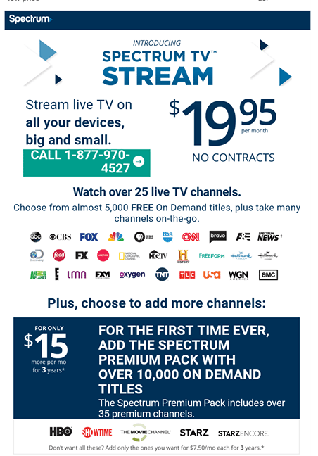 """Spectrum TV Just Launched A """"Sports FREE"""" Live TV"""