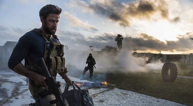 No Merchandising. Editorial Use Only. No Book Cover Usage. Mandatory Credit: Photo by Paramount/Kobal/REX/Shutterstock (5885392aq) John Krasinski 13 Hours - The Secret Soldiers Of Benghazi - 2016 Director: Michael Bay Paramount Pictures USA Scene Still War