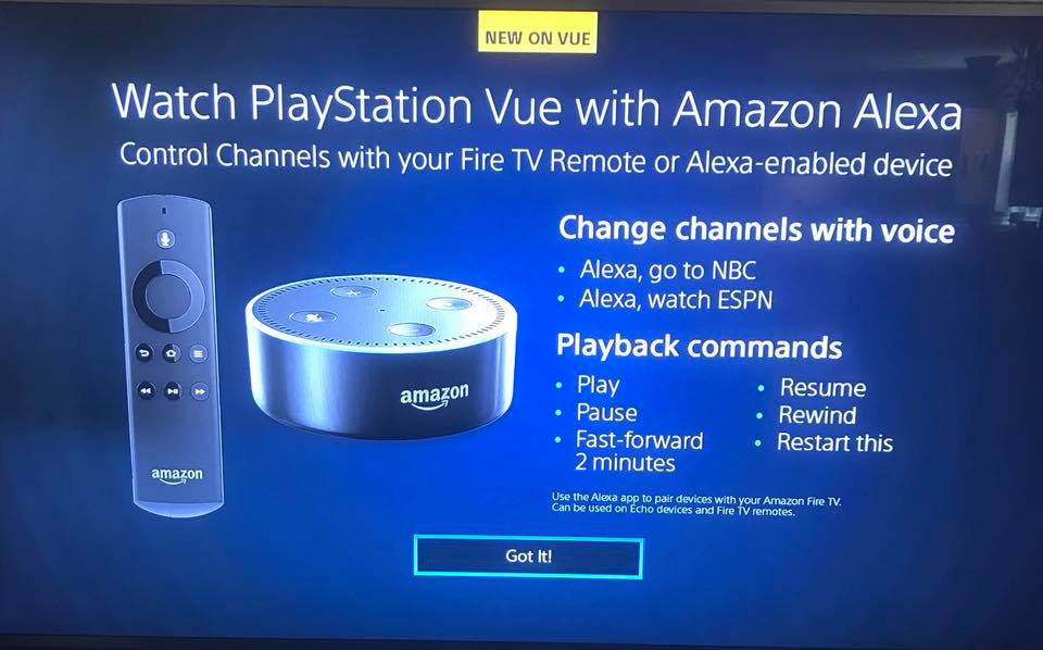 Playstation Vue Adds Support For Alexa Enabled Devices Cord Cutters News