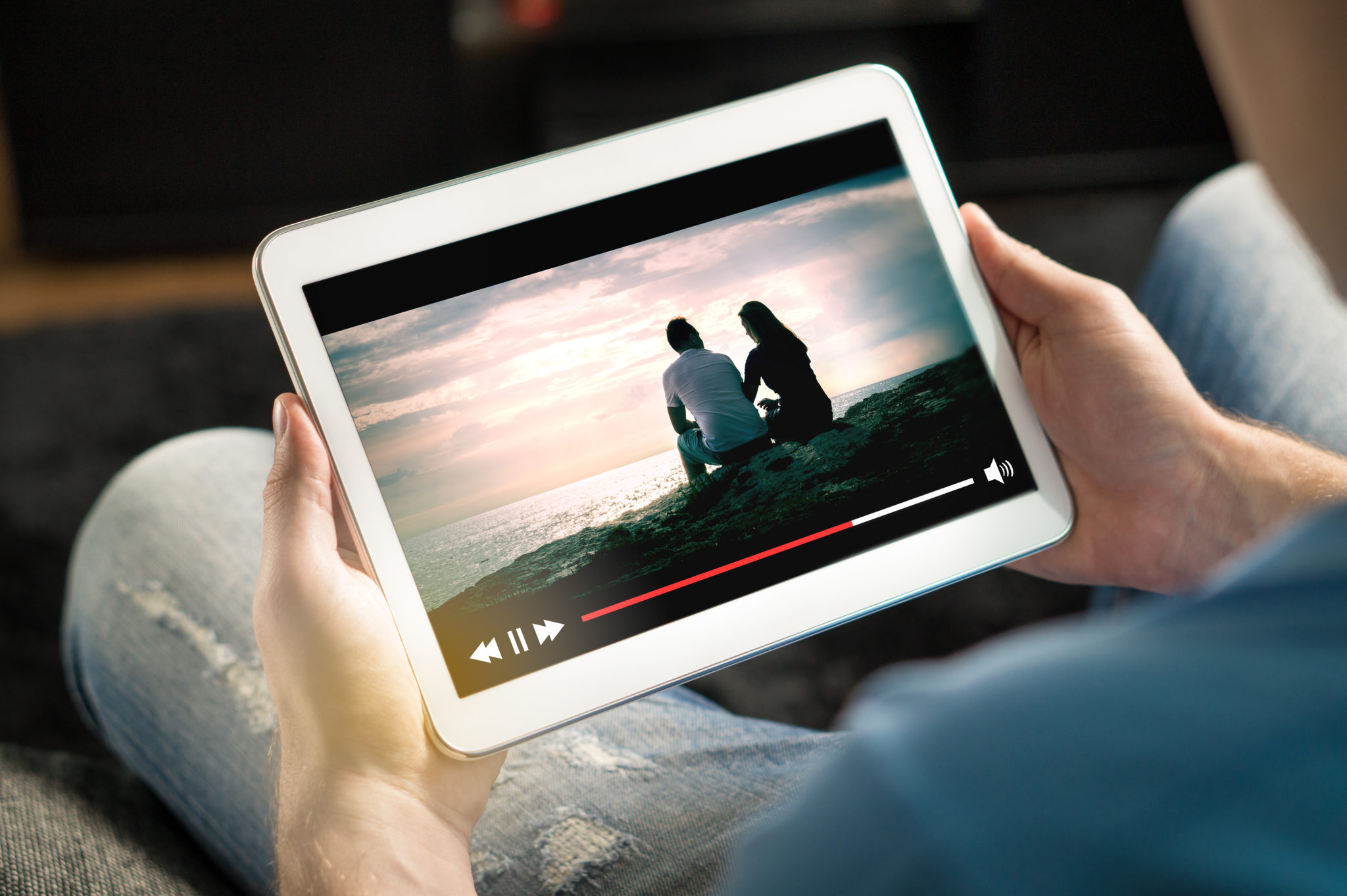 Online movie stream with mobile device