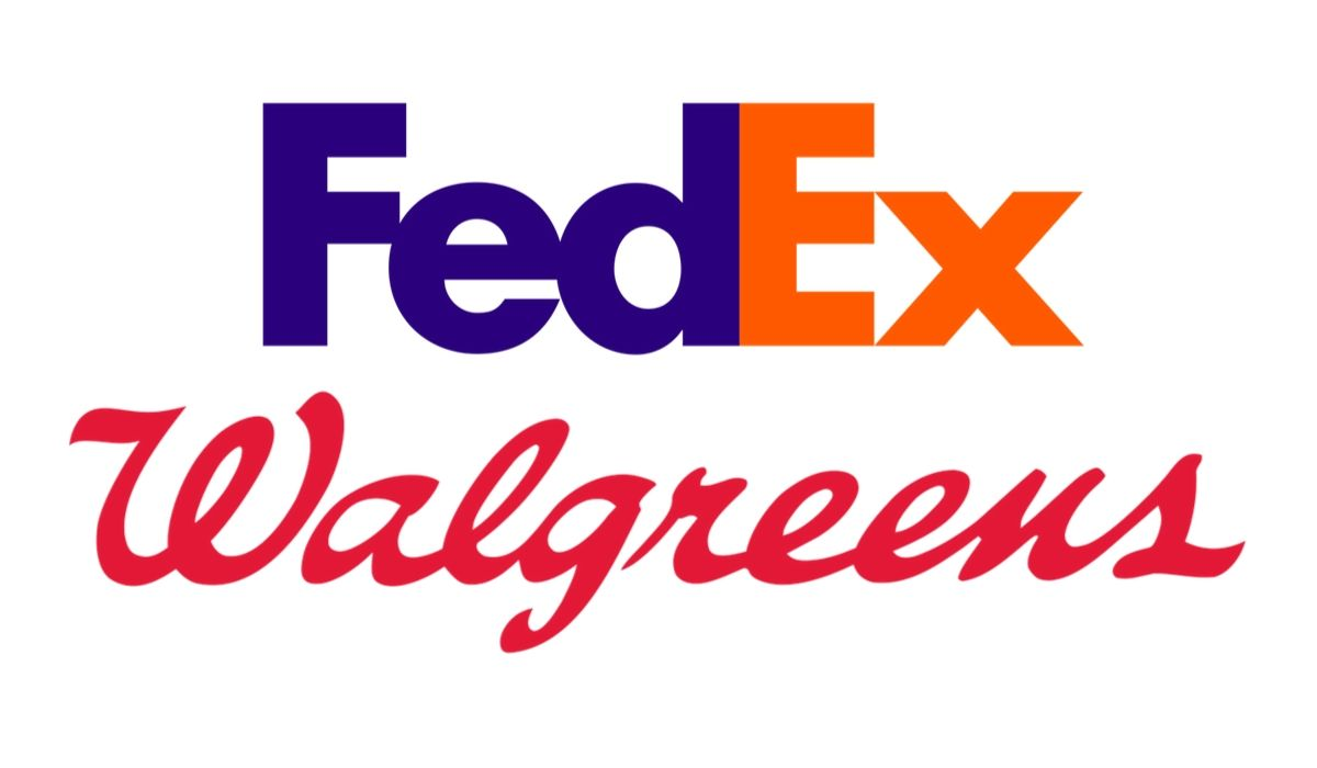 FedEx and Walgreens logos