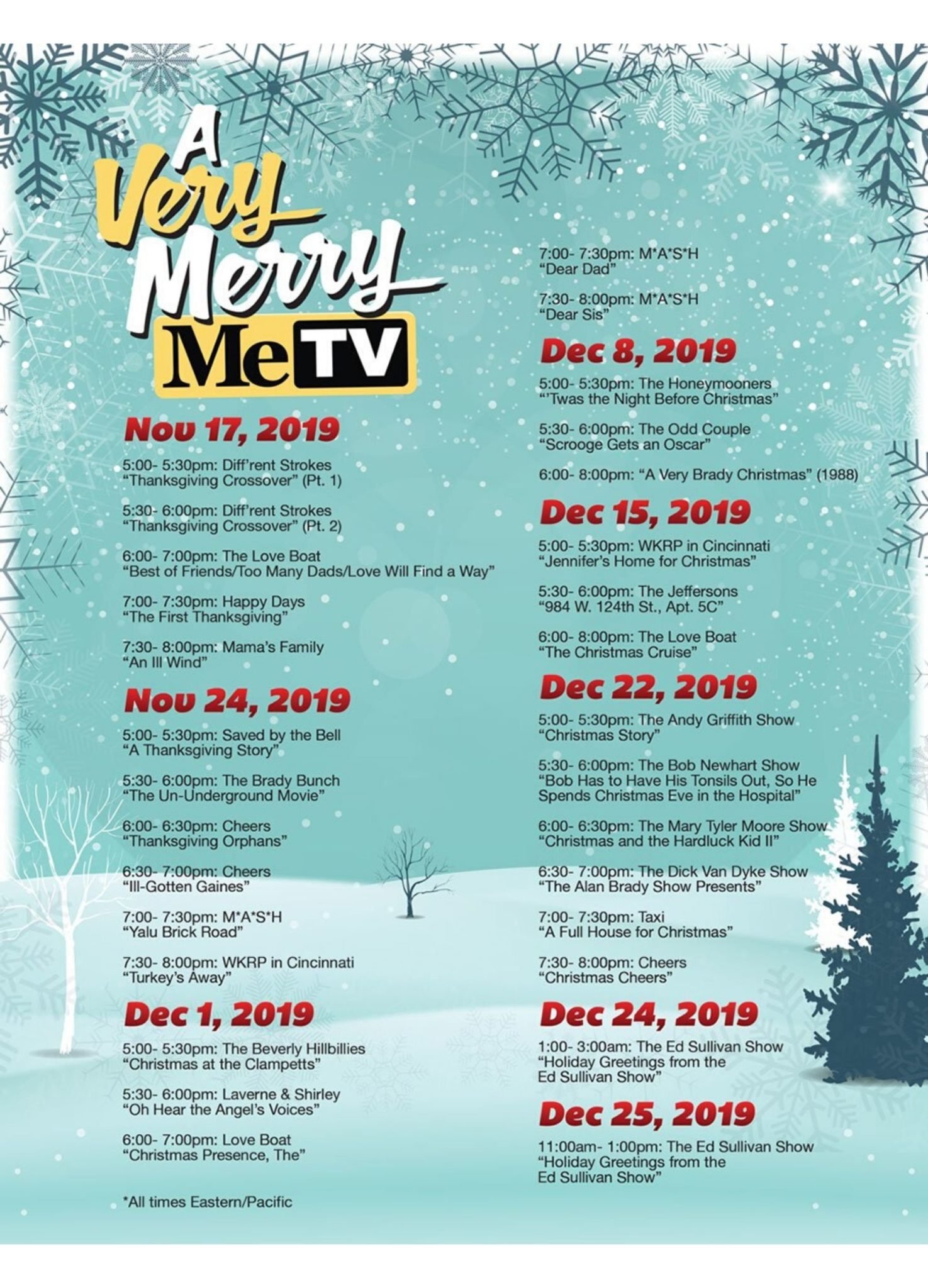 Metv Christmas Schedule 2020 MeTV is Airing Classic Holiday Episodes For Free all Through