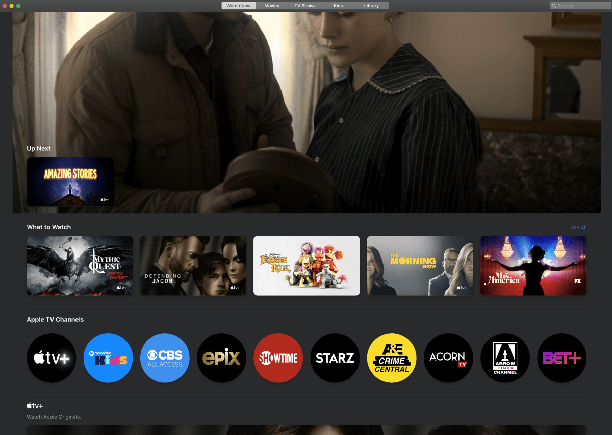 apple tv plus home page