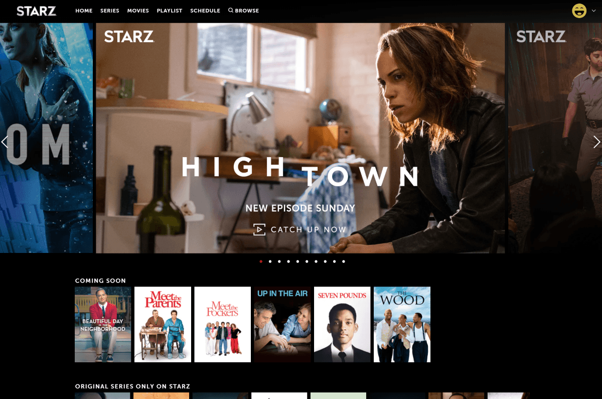 starz home page