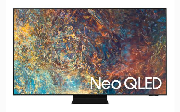 a face-on product photo of Samsung's Neo QLED TV for CES 2021