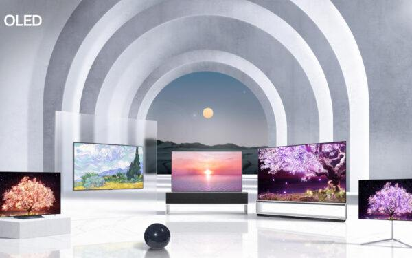 A collection of new TVs from LG