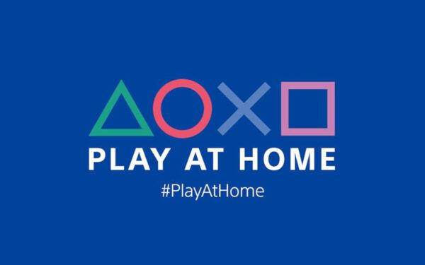 A logo for Sony's Play At Home program