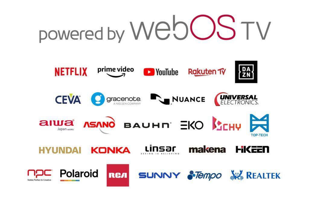 A listing of webOS partners