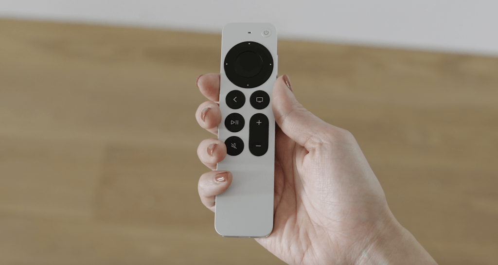Screenshot of the new Apple TV remote