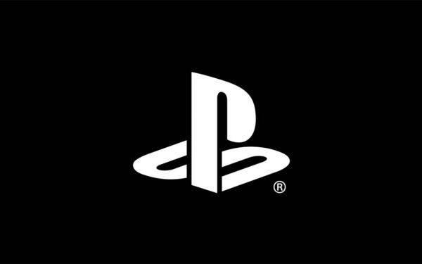 The Sony PlayStation logo on a black background