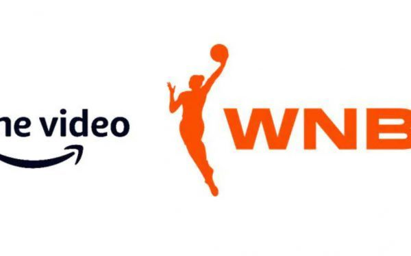 Collage of logos for Prime Video and the WNBA