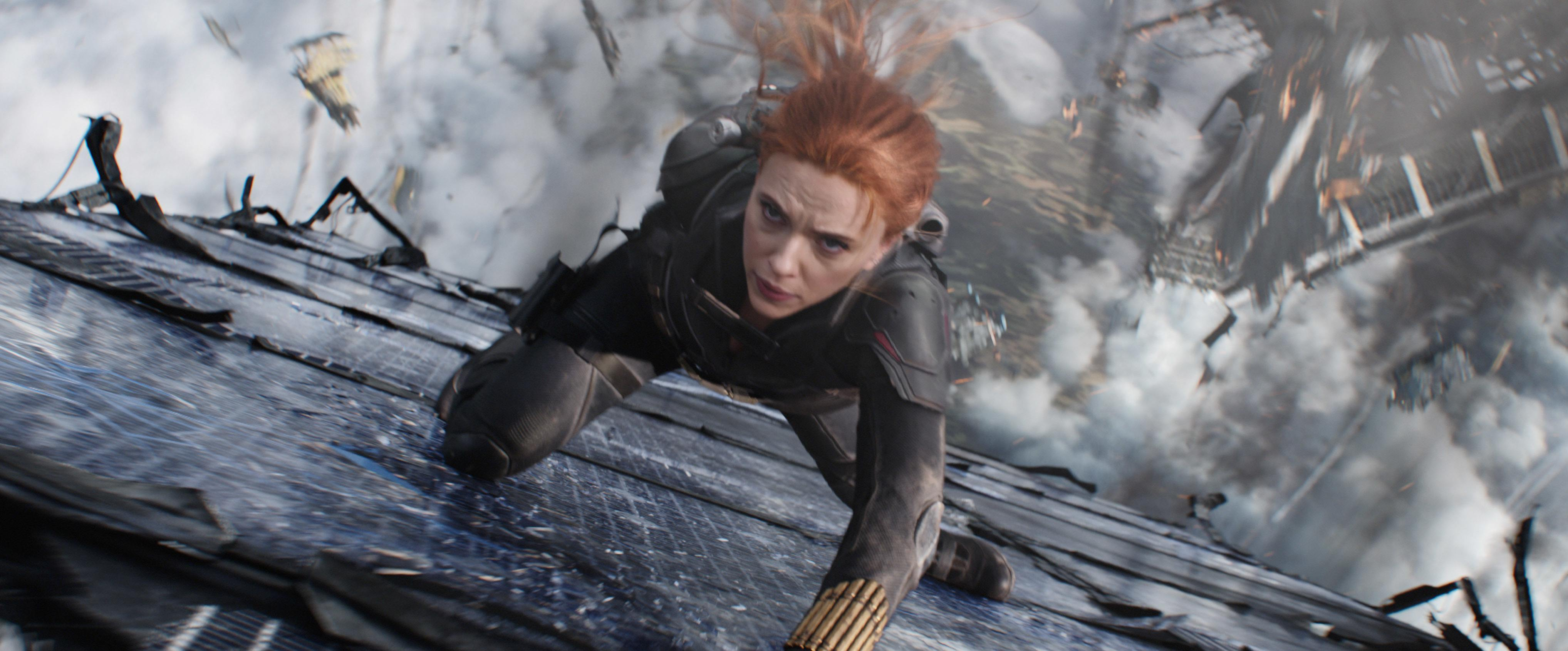 A still image from the movie Black Widow