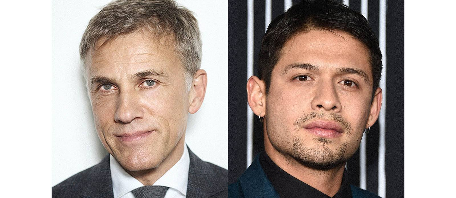 A photo of actors Christoph Waltz and David Castañeda of Most Dangerous Game
